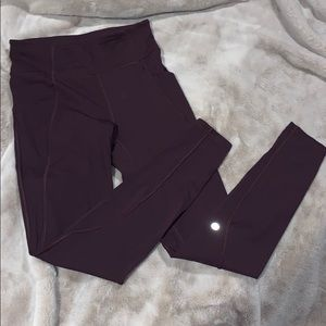 Lululemon deep purple running/training leggings
